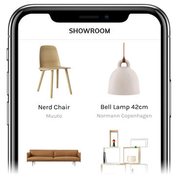 INHAABIT app showroom
